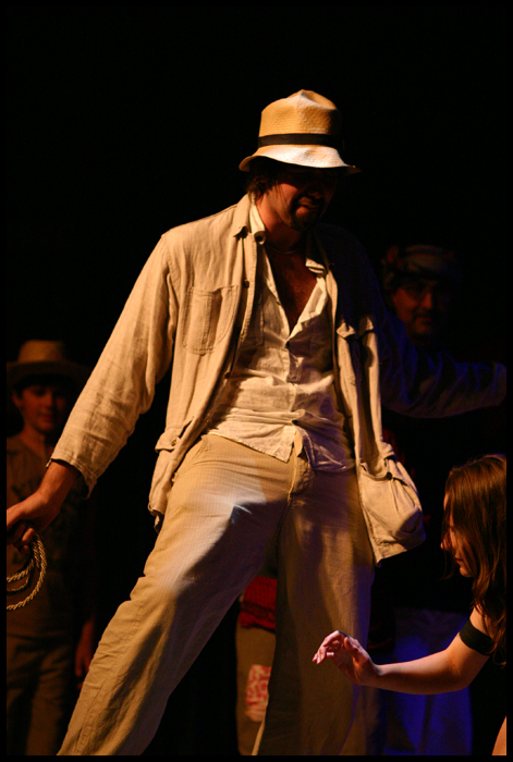 Sebastian as Indiana Jones. Plus erection, and girl.