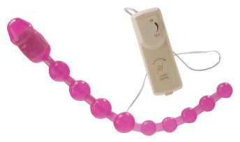 Vibrating anal love beads