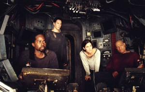 The crew of the Nebuchadnezzar in The Matrix (first film)
