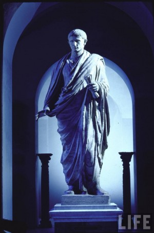 Emperor Caesar Augustus, photo credit to LIFE magazine and photographer Gjon Mili.