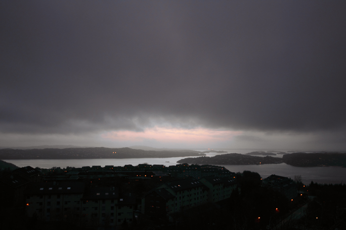 Looking out towards the ocean, from Olsvik in Bergen