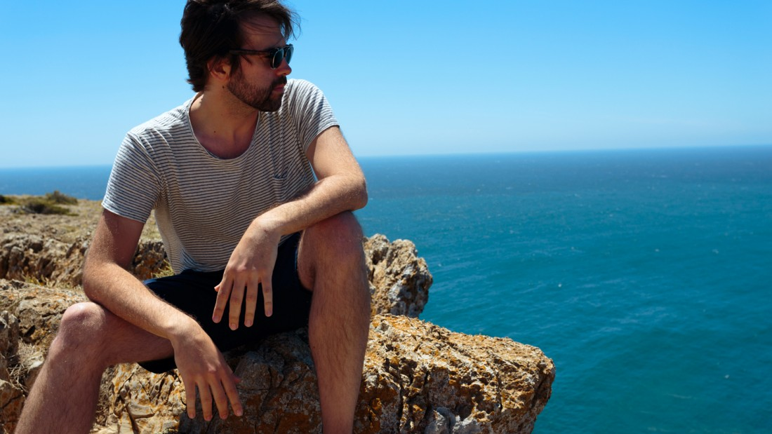 Seb, at Cape St. Vincent, Europe's most southwesterly point