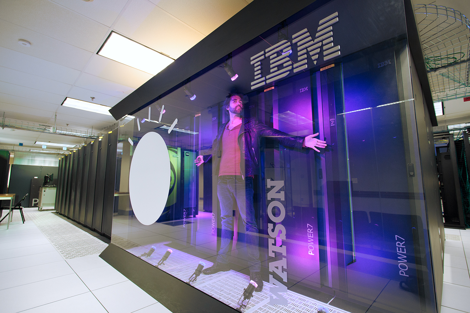 Me, standing inside IBM Watson at IBM Research in Upstate New York